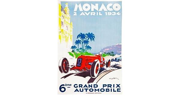 AV31 Vintage 1930 Monaco Grand Prix Motor Racing Poster Re-Print A4