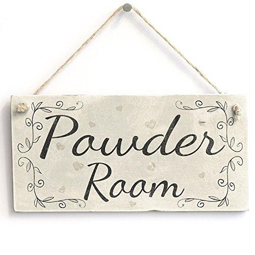 Powder Room Handmade Rustic Country Wooden Home Decor Toilet Door Sign / Plaque Wooden Hanging Sign 4