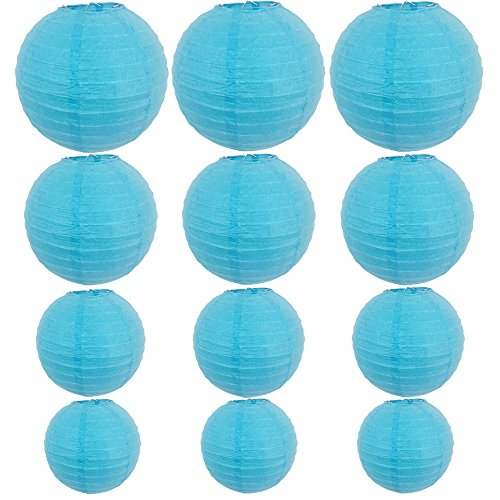 12-Packs-Round-Chinese-Paper-Lanterns-Assorted-Sizes-6Inch-8Inch-10Inch-12Inch-BirthdayWedding-Party-Ceiling-Hanging-Decoration-Blue
