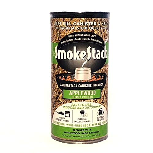 SmokeStack Applewood Flavor Gourmet Smoking Chips and Canister Kit