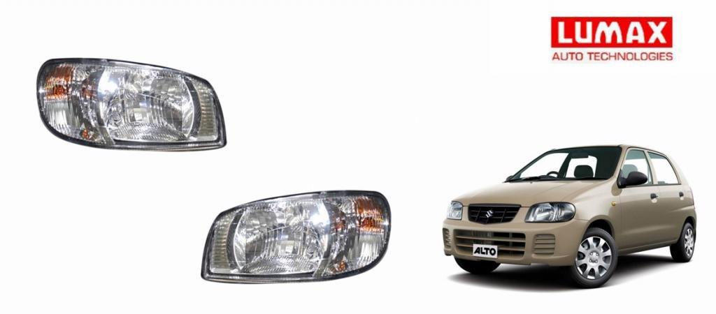 Lumax Car Crystal Headlight Assembly Maruti Alto Old Set Of 2