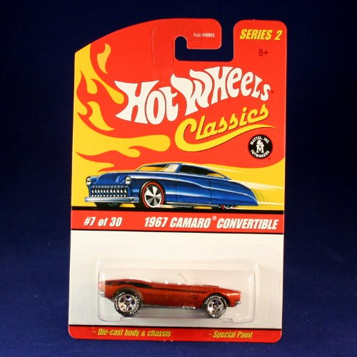 1967 CAMARO CONVERTIBLE (ORANGE) 2005 Hot Wheels Classics 1:64 Scale SERIES 2 Die Cast Vehicle