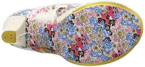 Irregular Choice Miaow - Tacones Mujer Blanco (Cream Multi)