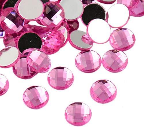 Light Pink 20mm Round Medium Rhinestones Gems Flat Back Sew On Bead