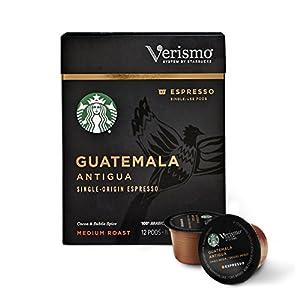 Starbucks Verismo Guatemala Antigua Single-Origin Espresso Single Serve Verismo Pods, Medium Roast, (Pack of 6)