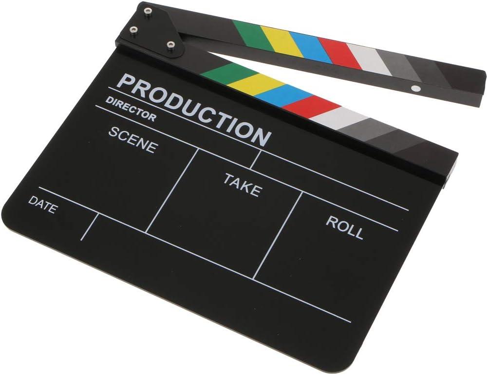 Almencla Clapboard Dry Erase Director Movie Film Slate Cut Action Scene Clapper Board