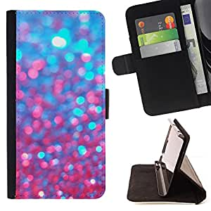 For LG G4 H815 H810 F500L Blue Glitter Red Purple Sparkling Bling Style PU Leather Case Wallet Flip Stand Flap Closure Cover