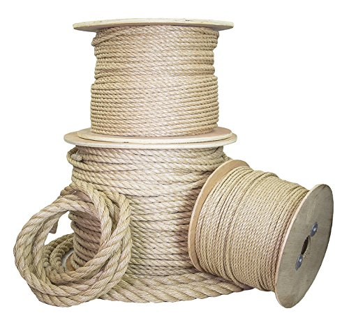 Ravenox Twisted UnManila Rope | (1/4-inch x 1200-feet) | ProManila Polypropylene Cord for Indoor Outdoor Use | 3/16-in to 2-inch Diameter | for Landscaping, Tug of War, Marine, Projects and Tie-Downs