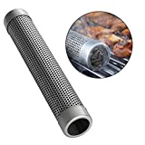 GEZICHTA Smoker Tube Filter, Perforated BBQ Smoke Generator(6'' Square,as the picture)