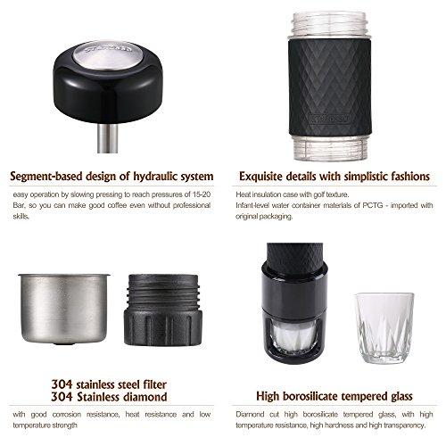 Staresso Coffee Maker with Espresso, Cappuccino, Quick Cold Brew All in One (SP-200 Black)