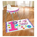 Amscan High Chair Decorating Kit   1st Birthday Girl   Flowers and Butterflies Collection