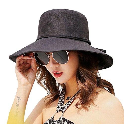 ASSQI Womens Foldable Shapeable Brim Sun Hat UPF