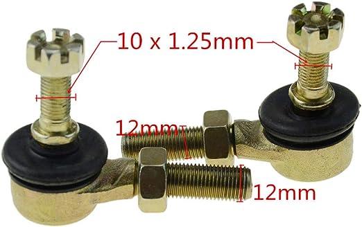 WOOSTAR Kugelgelenk 10 mm x 12 mm Kart Motorrad f/ür Roller ATV Go