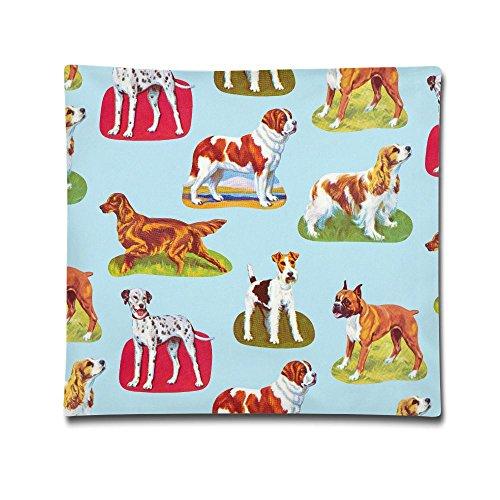Karen Felix Pillow Case Dogs Wallpaper Home Decor
