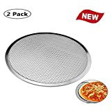Seamless Aluminum Pizza Screen, Pizza Making Net Bakeware Pizza Tools, Commercial Grade Metal Net Bakeware Kitchen Tools Pan Round Baking Tray
