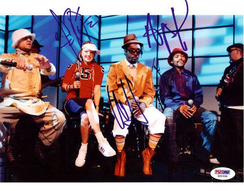 ed 8x10 Photograph Fergie, will.i.am, Taboo & apl.de.ap - Certified Genuine Autograph By PSA/DNA - Celebrity Autograph ()