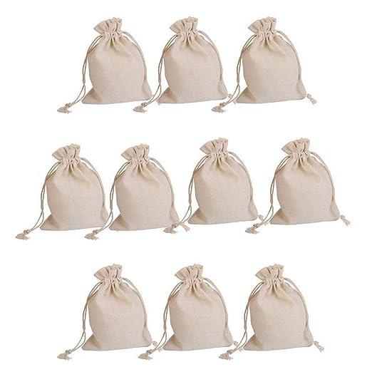 ogquaton 10 piezas bolsas de tela de yute bolsa regalo bolsa ...
