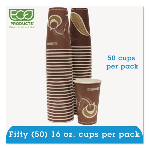 Eco-Products - Evolution World 24% PCF Hot Drink Cups, 16oz, Purple, 50/Pack EPBRHC16EWPK (DMi PK