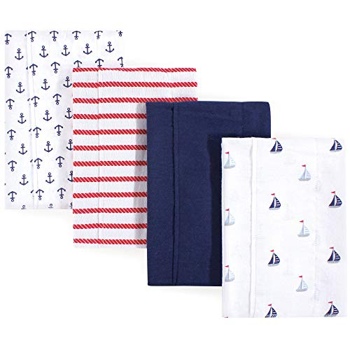 Luvable Friends Baby Layered Flannel Burp Cloth, sailboat, One Size from Luvable Friends