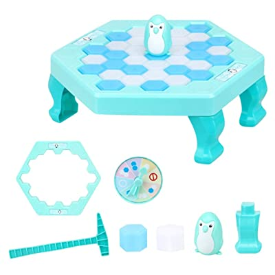 Malbaba Penguin Trap Game Save Penguin Icebreaker Table Games - Don't Break The Ice - Happy Family Time Fun Novelty Gift (Mint Green, S): Toys & Games