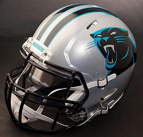 Panthers Replica Carolina Riddell Helmet (Riddell Speed CAROLINA PANTHERS NFL REPLICA Football Helmet with S2BDCSP Football Helmet Facemask/Faceguard)