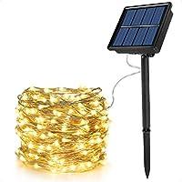 Ankway 8 Modi solar lichterkette led lichterketten mit Kupferdraht 100 LEDs wasserdicht lichterkette außen 39ft 11 Meters...