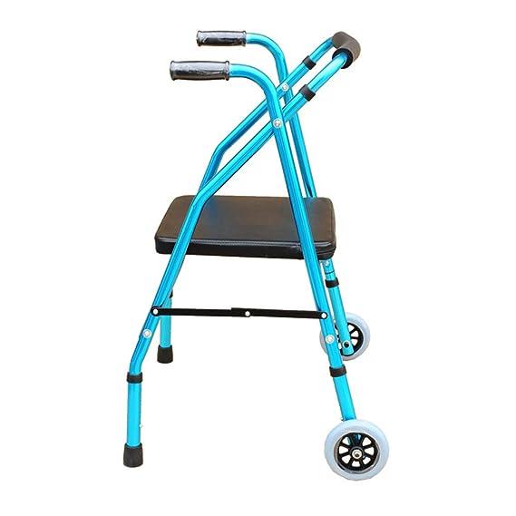Andador Rodillo plegable de altura ajustable para caminar con 4 ...