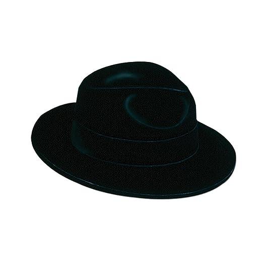 df10f251e8f71 Amazon.com  Black Velour Fedora - Plastic Backed  Clothing