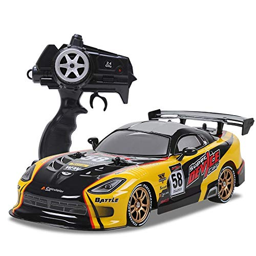 Rc Car for GTR/Dodge Viper 4wd Drift Racing Championship 2.4g Off Road Rockster Remote Control Vehicle Electronic Hobby Toys Gold