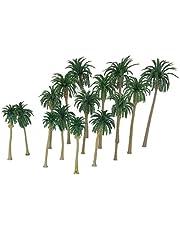 Milageto 15 st/set kokosnöt palmträd modell diorama krignamn landskap layout 1:70-1:150