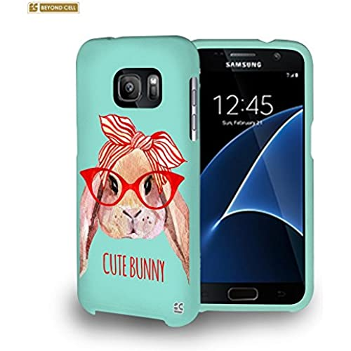 Spots8 Hard Plastic Slim-fit Phone Case for Samsung Galaxy S7 [Retro Cute Bunny] Sales