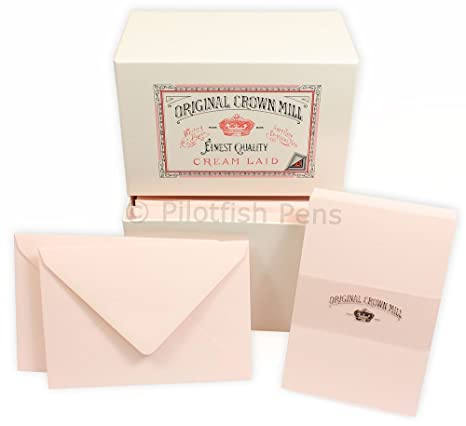 Crown Mill 15 Letter Writing Correspondence Cards Envelopes C6 Blue
