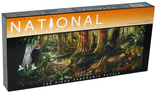 Larry Eifert National Parks & Preserves 700-Piece Panoramic Puzzle - Muir Woods National Monument, California
