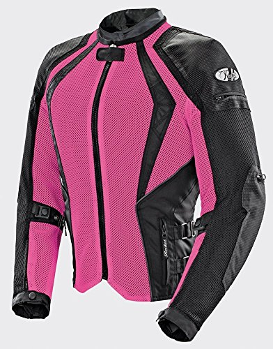 Joe Rocket Cleo Elite - Womens' Textile Mesh Motorcycle Jacket - Pink - Small