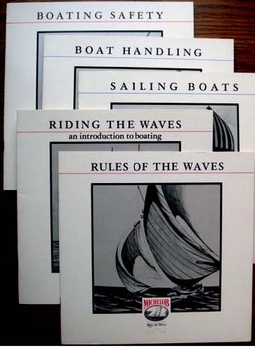 RULES OF THE WAVES Six Illustrated Boating Booklets (Michelob Boating Booklets, Volume 1- Volume 6) ()