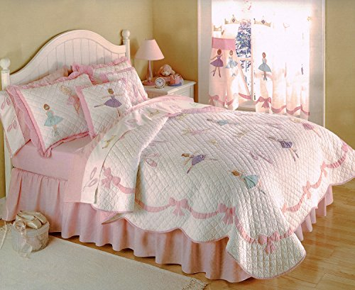 Ballet Lessons Full / Queen Quilt with 2 Shams (86x86 Inch)