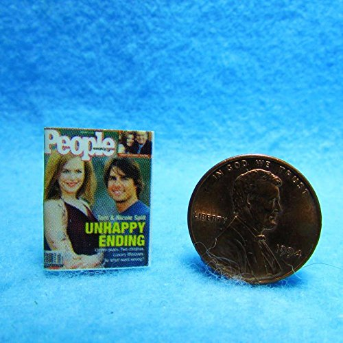 Dollhouse Miniature Replica of People Magazine with Nicole Kidman & Tom Cruise - My Mini Fairy Garden Dollhouse Accessories for Outdoor or House Decor