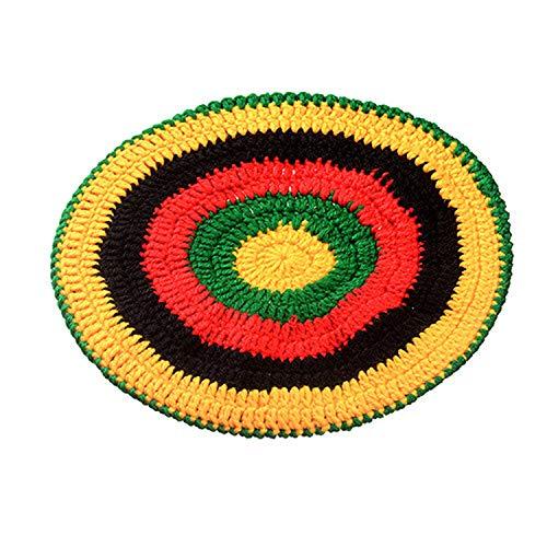 Knitted Wig Braid Hat Bob Marley Rasta Beanie Male Jamaican Multicolor Headwear Tassel Hair Accessories