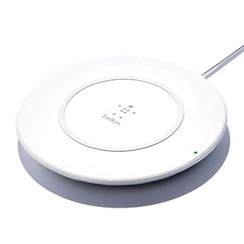 Belkin Boost Up 7.5 W - Cargador inalámbrico para iPhone XS, XS MAX, XR, X, 8 y 8 Plus, Compatible con Dispositivos de Samsung, LG, Sony, Blanco ...