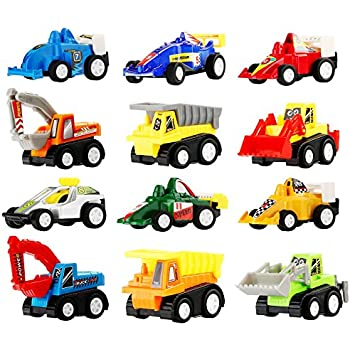 toy cars mini pull back vehicles assorted trucks and raced car toy play set racing. Black Bedroom Furniture Sets. Home Design Ideas