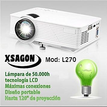 Black Friday proyector Modelo L270, portatil, USB Multimedia, HDMI, AV, VGA, 1500 lumenes, admite FULLHD: Amazon.es: Electrónica
