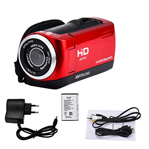 "Price comparison product image Hot Sale! Sunfei Digital Video,New 2.8"" TFT LCD 16MP HD 720P Digital Video Recorder Camera 16x Digital ZOOM DV (Red)"