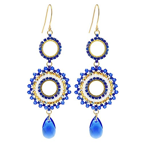 (Beadaholique Beaded Statement Earrings Featuring Swarovski Crystals - High Seas - Exclusive Jewelry Kit)