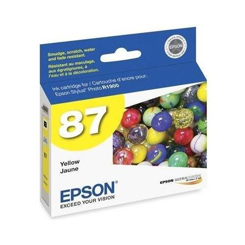 Epson 87 T087420 Yellow OEM Genuine Inkjet/Ink Cartridge - (T087420 Yellow Ink)