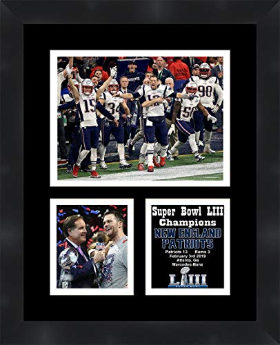 New England Patriots Super Bowl 53 Tom Brady Framed 11 x 14 Matted Collage Framed Photos Ready to Hang