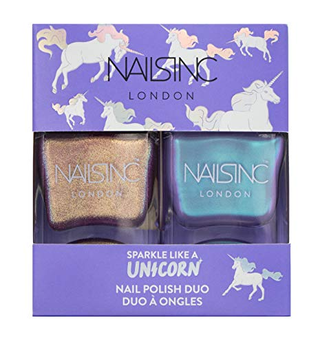Nail Duo - Nails inc Sparkle Like a Unicorn Nail Polish Duo Kit