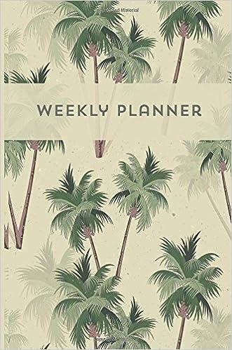 Weekly planner Agenda semanal Journal Calendar Palm trees ...