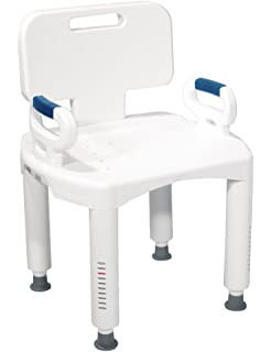 Amazoncom Drive Medical Plastic Tub Transfer Bench With Adjustable