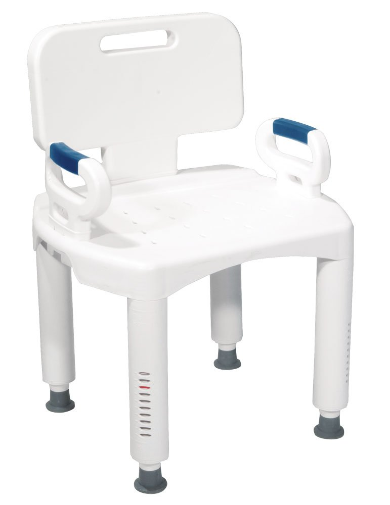Drive Medical Premium Series Shower Chair with Back and Arms by Drive Medical