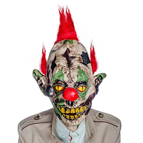 Scary Clown Mask Halloween Party Costume Decorations Creepy Latex Mask for Adults (Pointed ears ghost -